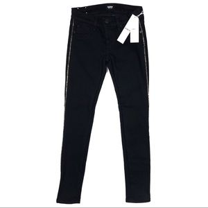 🍓 NWT Hudson Jeans Luna Skin Black Gold Chain 23